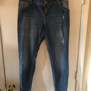 Lane Bryant Bling Skinny Jeans
